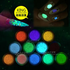 Glitter Luminous Nail Art Sticker Tips Decoration DIY Acrylic Manicure Color7