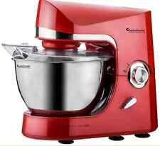 TurboTronic Max 2000W Food Stand Mixer With 5L Stainless Steel Mixing Bowl RED