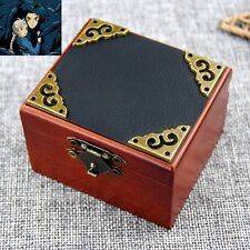 Vintage Square Black Cover Wind Up Music Box  : Ghibli Howl's Moving Castle