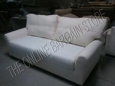 Pottery Barn PB COMFORT roll arm Sofa couch BOX edge cushions poly REGULAR