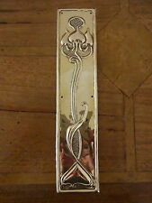 BRASS ART NOUVEAU FINGER DOOR PUSH PLATE FINGERPLATE