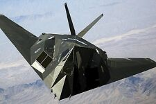 New 5x7 Photo: Lockheed F-117A Nighthawk Stealth Fighter over Air Force Base