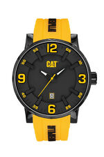 Mens Caterpillar Bold CAT NJ16127137 Yellow  Rubber Yellow Accents Sport Watch