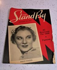 Vtg Stand By Radio Magazine Country Music Chicago 30s Sally Foster Jan. 25, 1936