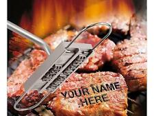 Barbecue Barbeque BBQ Branding Iron Meat Steak Burger Tool+Changeable Letters FI