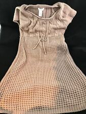 CANDIE'S Women's Knitted Sweater Dress SIZE M Rose/Mauve Knee Length