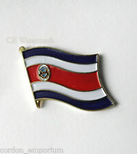 COSTA RICA NATIONAL COUNTRY WORLD FLAG LAPEL PIN BADGE 1 INCH