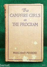 1933 THE CAMPFIRE GIRLS ON THE PROGRAM - NOT SCOUT - ESTATE LIQUIDATION