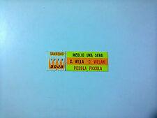 Carmen Villani / Claudio Villa–Piccola Piccola - Stickers Etichetta Per Juke Box