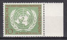 BRD 1955 MER. n. 221 post fresco con bordo pagina TOP!!! (21534)