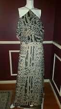 *NEW* BCBG MAXAZRIA BLACK WHITE BEIDGE EVENT PARTY SILK DRESS Sz 12 Rt $395