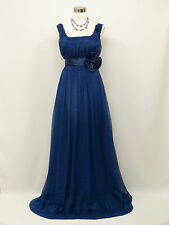 Cherlone Plus Size Chiffon Blue Ballgown Wedding Evening Bridesmaid Dress 20-22