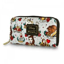 $ New LOUNGEFLY DISNEY Ziparound Wallet BEAUTY AND THE BEAST BELLE Mrs. Potts