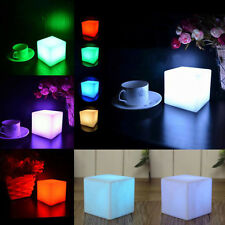 LED COLOUR CHANGING CUBES MOOD LIGHTS RELAX NIGHT LIGHT CALM LED DECOR