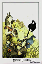 Mouse Guard Print Black Axe Signed by David Petersen AR
