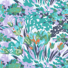 """AMY BUTLER """"VIOLETTE"""" MEADOW BLOOMS Turquoise by yard"""
