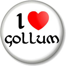 I Love / Heart GOLLUM 25mm Pin Button Badge The Hobbit Lord Of Rings JRR Tolkein