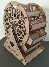 Y35 Ferris Wheel X-LARGE Wedding Big Day Party Unpainted MDF Table Display Stand