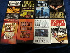 8 POWERFUL BOOKS by ROBERT LUDLUM  ** UK FREEPOST ** HARDBACKS