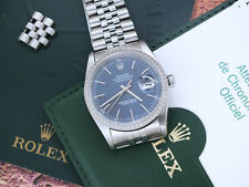 2005 Gents Blue Dial Rolex Oyster Perpetual Datejust - With Box and papers.