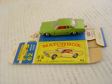 MATCHBOX LESNEY #62 MERCURY COUGAR WITH ORIGINAL BOX