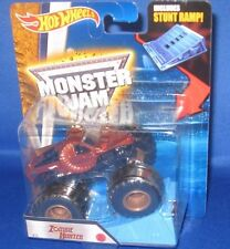 MATTEL HOT WHEELS MONSTER JAM OFF ROAD 1:64 MONSTER TRUCK ZOMBIE HUNTER W/RAMP