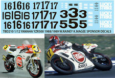 1/12 YAMAHA YZR500 1988 /1989 RAINEY MAGEE HASEGAWA   DECALS TB DECAL TBD210