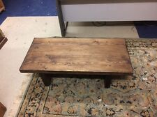 Small chunky Handcrafted Coffee Table Tudor Oak in colour