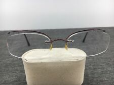 Chanel Eyeglasses Rimless 2035 50-13 Wire Burgundy Frames Only 1578
