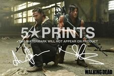 """ANDREW LINCOLN NORMAN REEDUS POSTER PHOTO 12x8"""" SIGNED PP THE WALKING DEAD DARYL"""