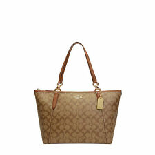 NWT Coach Sign Ava Zip Tote Handbag in Khaki/Saddle F 55064 $350