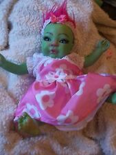 REBORN NEWBORN BABY GREEN TROLL ART DOLL UNIQUE MYTHICAL CREATURE FAIRY AVATAR