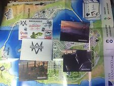STEELBOOK STICKERS, MAP, LITHOGRAPHY WATCH DOGS 2 COLLECTOR'S SAN FRANCISCO NEW