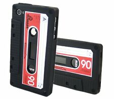 STYLISH RETRO CASSETTE TAPE SILICONE GEL RUBBER CASE COVER FOR IPHONE 4G 4S