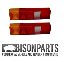 FORD TRANSIT TIPPER / PICK-UP 85-ONWARDS PAIR OF REAR LAMP LIGHT LENS