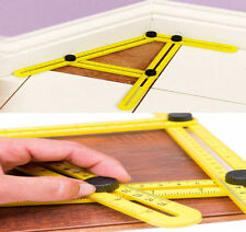 Adjustable Four-Sided Folding Measuring Tool Multi-Angle Template Scale Ruler f1