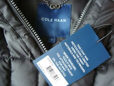 NWT COLE HAAN Light Weight 90% Belted Down Coat Jacket With Travel Pouch Sz S