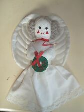Country Handcrafted Heart-Cheeked Quilted Wings Soft Decorative Angel