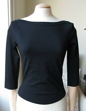 AZZEDINE ALAIA BLACK CROPPED TOP UK 8