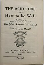 The Acid Cure or How to be Well 1946 Francis Coutts & Sons Paperback