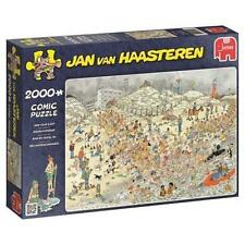 JUMBO JIGSAW PUZZLE NEW YEAR'S DIP JAN VAN HAASTEREN 2000 PCS CARTOON #19040