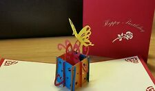 3D Handmade Pop Up Card - A Magic Box for Birthday presents