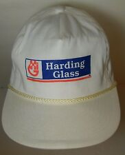 Vintage 1990s HARDING GLASS Window Repair Advertising SNAPBACK HAT ROPE CAP