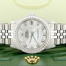 Rolex Datejust 31mm S/S Jubilee Womens Watch with MOP Diamond Dial/Diamond Bezel