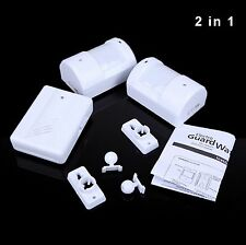 2IN1 Driveway Patrol Alarm Garage Motion Sensor Infrared with 2 Sensors Detector