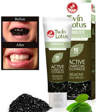 150g Twin Lotus Active Charcoal Toothpaste Herbal Remove Bad Breath Oral Care
