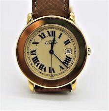 Authentic Ladies Must De Cartier 1800 Vermeil Sterling Silver Wristwatch
