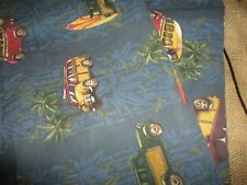 ROOMS THAT RULE SHARKY (1) STANDARD PILLOW SHAM SURF BLUE WOODY SURFBOARD COTTON