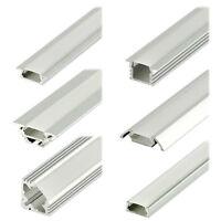 LED Strip Aluprofil Set Schiene Alu Profil Aluminium Streifen Profilschiene Elox