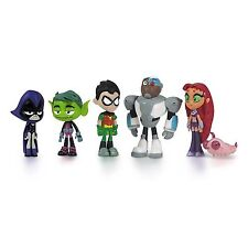 6 PACK Teen Titans Go Action Figure Raven Beast Boy Robin Cyborg Starfire Silkie